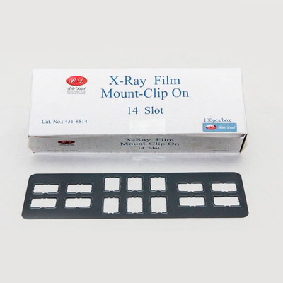 Universal Periapical Bite-Wing Dental X-Ray Film Mounts - Clips On 14 Slot