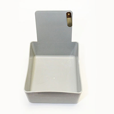 Dental Laboratory Working Case Plastic Pan Tray With Clip Holder - Grey