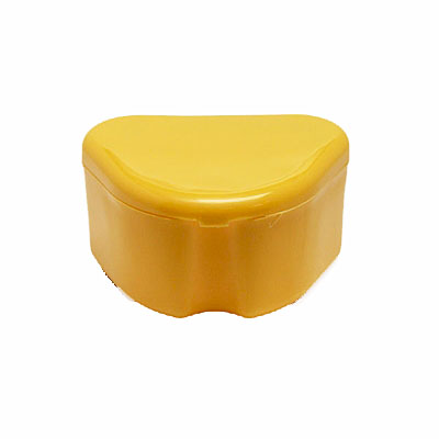 Denture Retainer Box 12 Pack Yellow